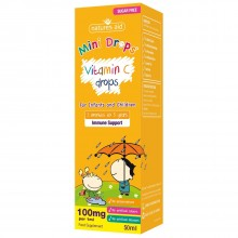Natures Aid (3 Months-5 Years) Vitamin C 100mg Mini Drops For Infants & Children 50ml