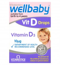 Vitabiotics Wellbaby Vit D Drops Birth TO 4 Years 30ml