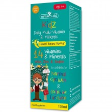 Natures Aid (6-12 Years) Kidz Multi-Vitamins & Minerals 150ml