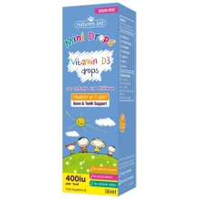 Natures Aid (3 Months-5 Years) Vitamin D3 400iu Mini Drops For Infants & Children 50ml